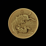 7A.. THE FALLEN RIDER 1971 BY FREDERIC REMINGTON PRE-OWNED,EXCELLENT CONDITION GUARANTEED GOLD-PLATED MACO MEDAL 46.30X4.00MM 1.822831X 0.15748 IN. FRONT $33 $55