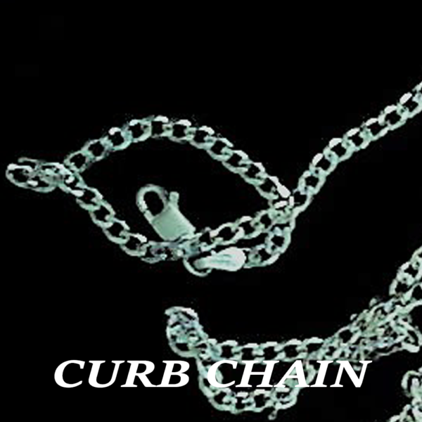 NeckCurbChain16,18,20,22,24in, 1.5mm,2.0mm,2.5mm, 3.0mm SterlingSilver Labeled