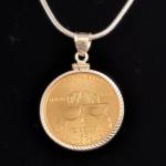 USA SACAGAWEA ONE DOLLAR 2016 -BRONZE DIAMOND CUT BEZEL ONE IN 48 REV