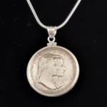 WASHINGTON.JEFFERSON 1776-1926 STERLING SILVER COIN EDGE BEZEL ONE AND ONE EIGHTH IN 85 OB