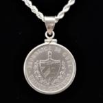 Cuba Vente Centavos 1948 Coin Edge Bezel 26.00mm .875 in OB 48