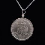 USA One Dollar 1878 Seated LibertySilver Clad Coin Edge Bezel 38.00×3.00mm One and One Eight in. OB $35