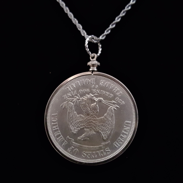 USA One Dollar 1878 Seated LibertySilver Clad Coin Edge Bezel 38.00×3.00mm One and One Eight in. REV $35
