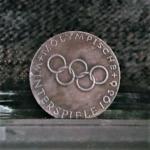 GERMANY BERLIN OLYMPICS 1936 GARMISCHPARTENKIRCHEN TOWN IN BAVARIA 1.46in 37.00X2.30mm OB 8.50-14.50