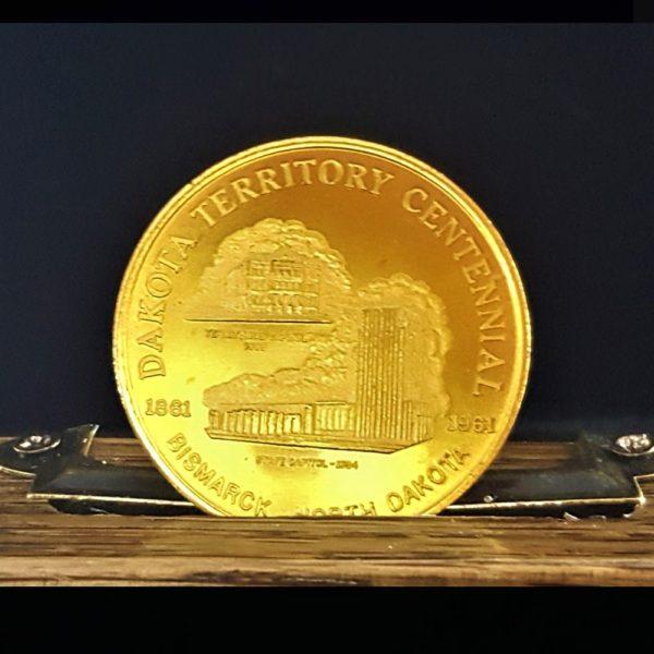 Dakota Territory Centennial Dec. 5,1961 Fifty Cent Token Bronze 1.32 in, 34.00 x 2.00 mm 12.00 Rev