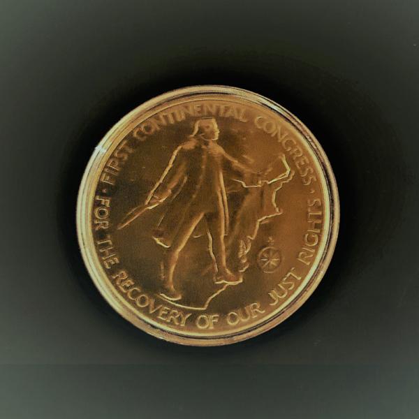 AMERICAN REVOLUTION BICENTENNIAL 1775-1975 JOHN ADAMS .1974 BRONZE 1.50in 38.00×2.80mm rev.
