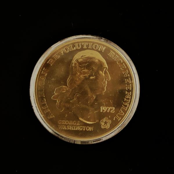 AMERICAN REVOLUTION BICENTENNIAL GEORGE WASHINGTON 1972 1.50IN.38.00X2.802MM OB.