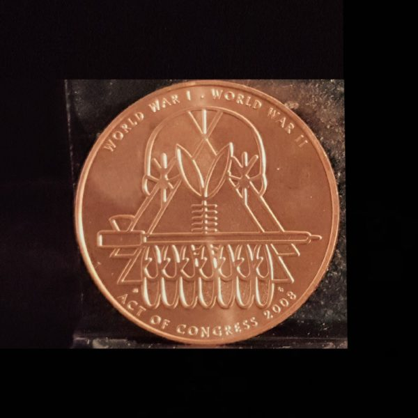 CODE TALKERS WWI.WWII 2008 PONCA TRIBE 1.50IN.38.00X2.90MM REV