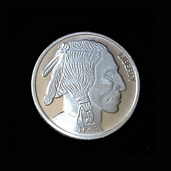 BUFFALO HEAD ROUND ndt ONE Oz PROOF 1.50in 39.00×2.65mm OB V2 23 rep