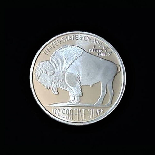 BUFFALO HEAD ROUND ndt ONE Oz PROOF 1.50in 39.00×2.65mm REV rep