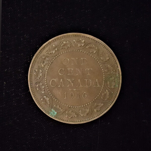 CANADA One Cent 1916 .128 oz Copper 26.00 x 1.50 mm rev 8