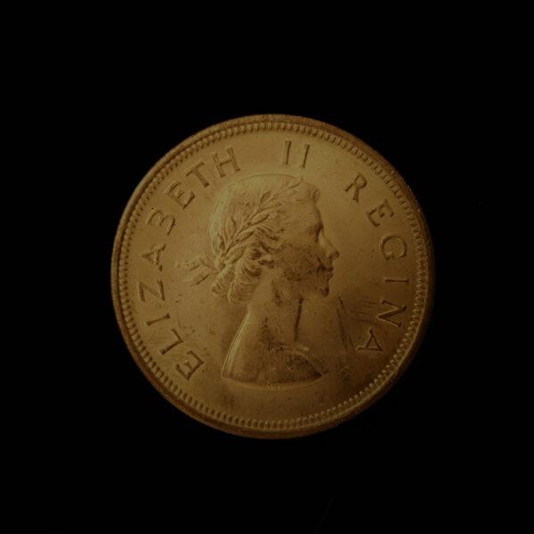 SOUTH AFRICA One Penny 1960 QEII.Dromedaris Tall Ship Bronze .267 oz, 1.375 in 31.00 x 1.70 mm ob 4