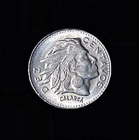 COLUMBIA Ten Centavos 1964 .09oz .75in 18.5×1.25mm 3$7 ob