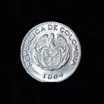COLUMBIA Ten Centavos 1964 .09oz .75in 18.5×1.25mm 3$7 rev