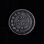 DOMINICAN REPUBLIC Two and One Half Centavos 1888 Silver .07oz .75in 17.83×1.13 mm rev 10$17