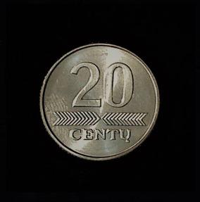 LITHUANIA Twenty Cents 1982 .17oz .75 in 20.56×2.12mm 2$3 rev