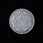 NEWFOUNDLAND Ten Cents 1894 .107oz .70in 17.75×1.00mm 14$23 rev