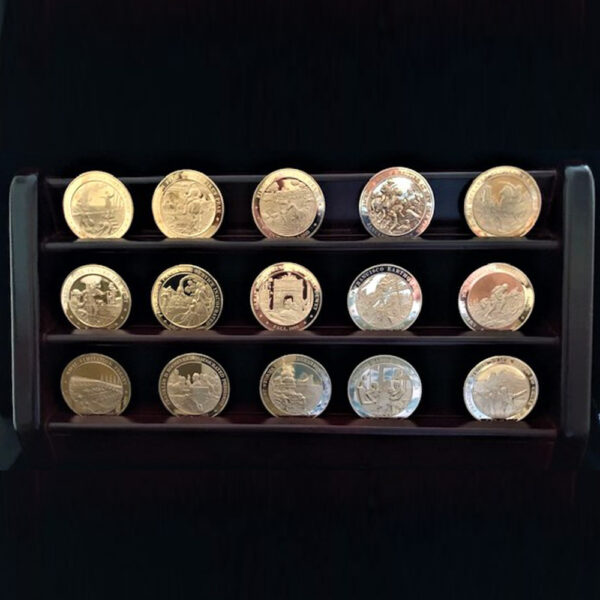 AMERICAN HISTORY 1836-1855 Ten Medals on Stand 239