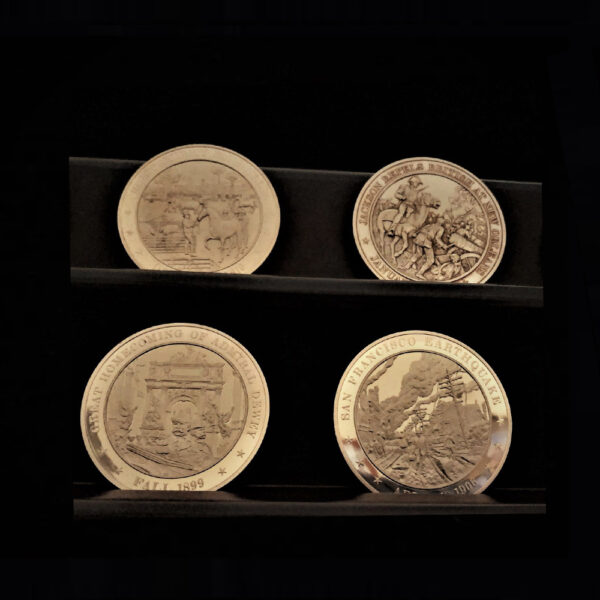 AMERICAN HISTORY FOUR OF FIFTEEN MEDALS