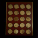 UNITED STATES HISTORY 1836 to 1855 The Franklin Mint 20 Bronze Coins 1.70in. 44.00mm x 2.50mm on Board 11 x13in. Rev 22.50.139