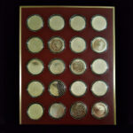 UNITED STATES HISTORY 1936 to 1955 The Franklin Mint 20 Bronze Coins 1.70in. 44.00mm x 2.50mm on Board 11 x13in. Rev 23.229