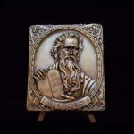 Moses by Cabral Antune bronze 3.00 x3.50 x .375 8.50oz 74.00x 87.00 x 5.60 mm 29.90..49.00 ob4