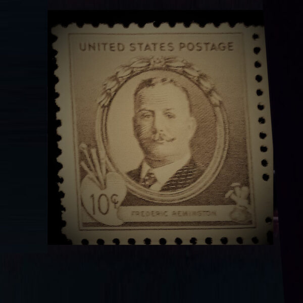 Remington One Ten Cent Postal Stamp.