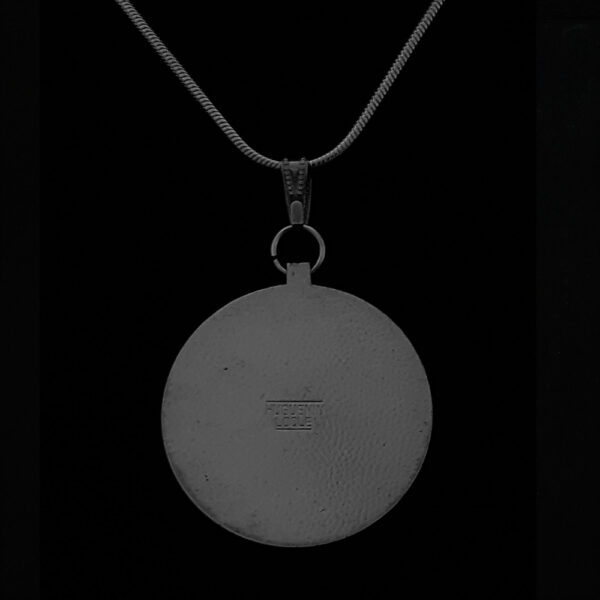 Swiss Medal 1950 Ancient Battle Medal by Sils Furstenau Product by Hugeunin Sterling SIlver Snake Chain .793 oz 1.30 in 33.00 x 2.85 mm 10+20+5= 59 Rev