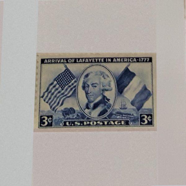 Marquis de Lafayette 3C 1952 US and France FlagsScott 1010 $.84